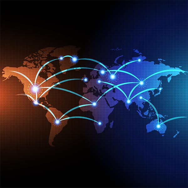 通讯网络全球化